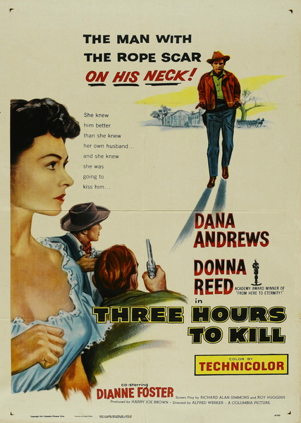 CineScope - Affiche - Trois Heures pour Tuer - Three Hours to Kill - 1954
